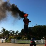 Big Tex is destroyed by an electrical fire Oct. 19, 2012.