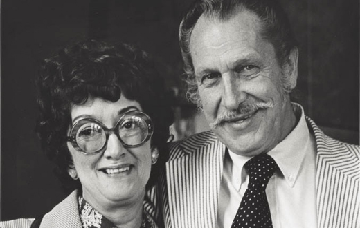 Dorothy Fagg with movie star Vincent Price