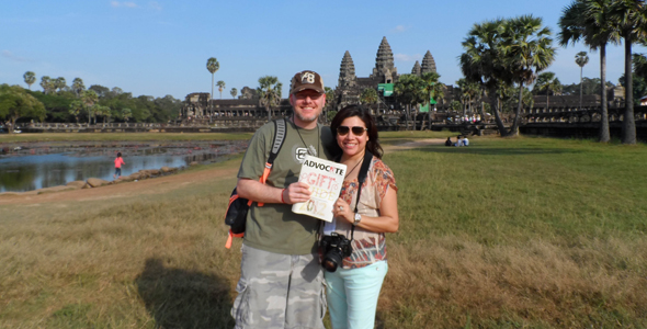 Jeff and Christine Pope in Siem Reap, Cambodia