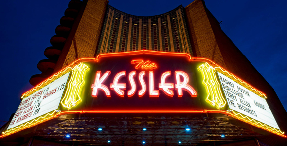 The Kessler Theater installed a new marquee