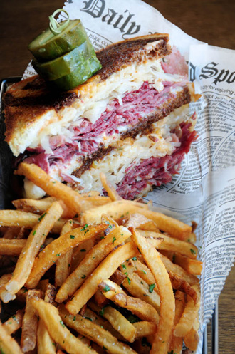 the ruben sandwich with fries