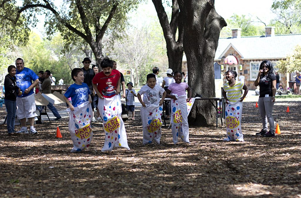Dallas Zoo - Sack Race
