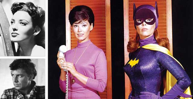 Clockwise from top left: Linda Darnell, Yvonne Craig and Terry Southern