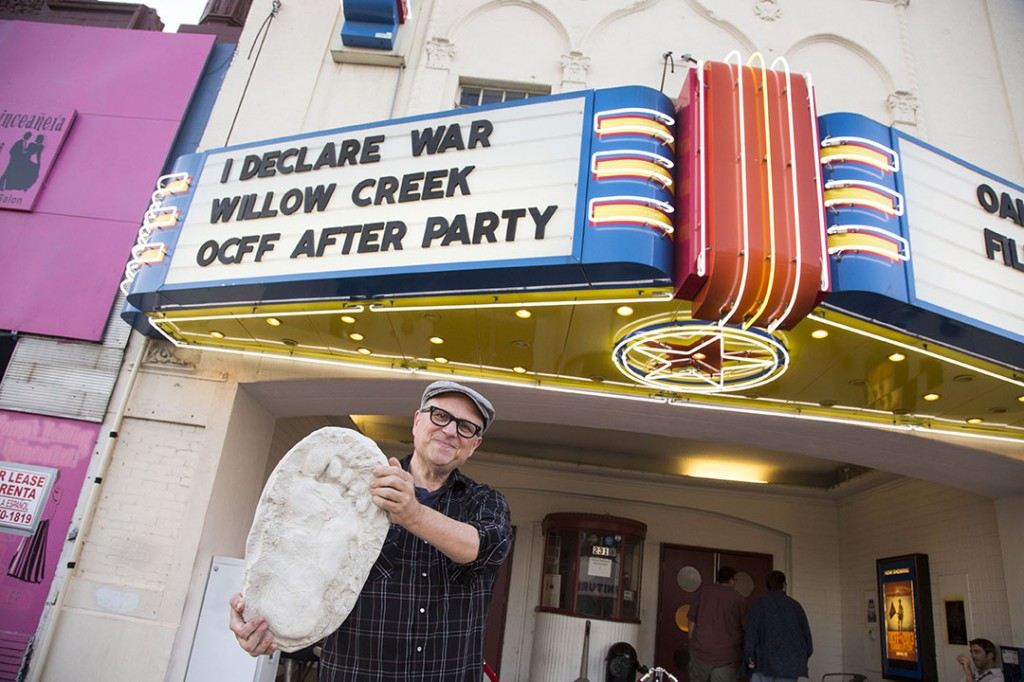 Bobcat Goldthwait outside the Texas Theatre during the Oak Cliff Film Festival. Photo by Brandy Barham