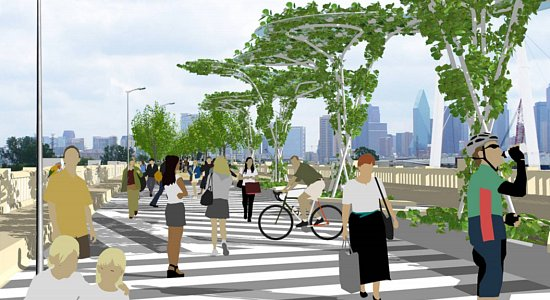 A rendering of what the new Continental pedestrian bridge may look like.