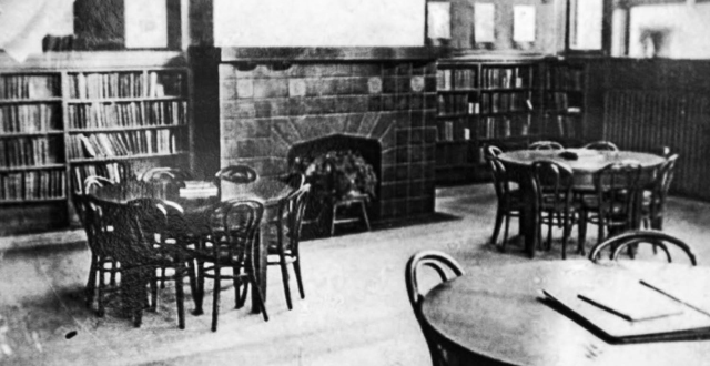An interior shot of the library, which opened in 1914.