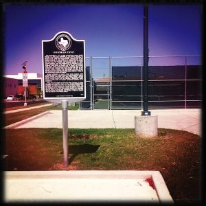 The J.D. Tippit memorial marker at Tenth and Patton: David Leeson