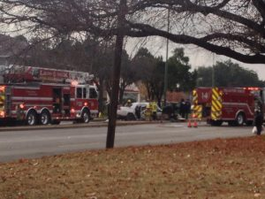 The accident scene at Jefferson and Rosemont Saturday afternoon, via facebook