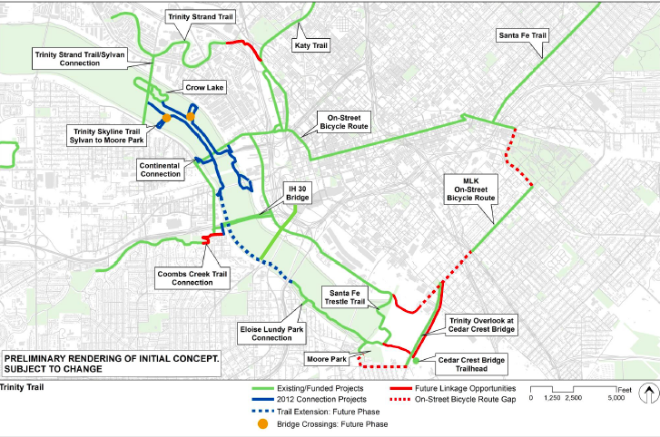 Overview of Trinity Corridor transportation update from City of Dallas