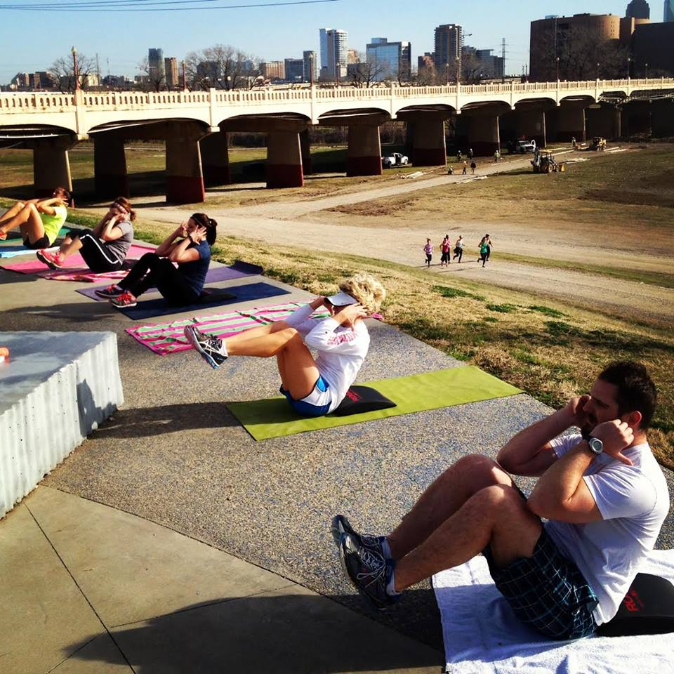 Oak Fit training camp at the Trinity Levee Overlook