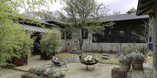 Hammack and Fitzgerald completely reworked the home's landscaping and outdoor spaces. Photo by Jeanine Michna-Bales