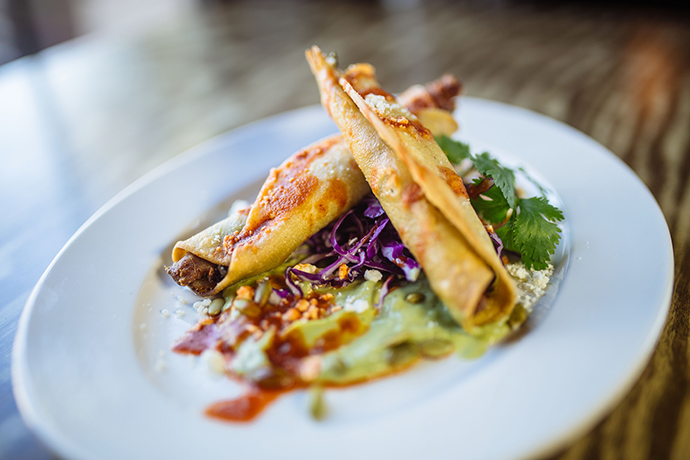 Duck taquitos: Photo by Kathy Tran