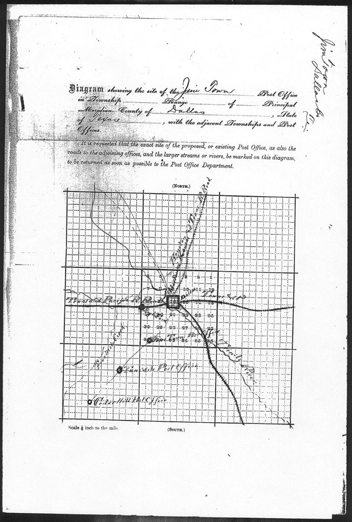 An original map of Jimtown from 1878