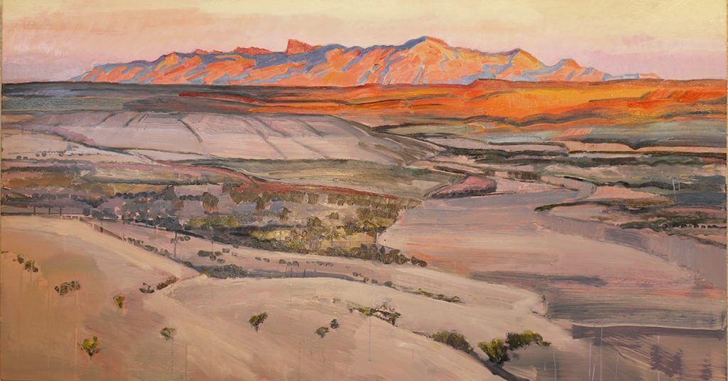 """Chisos from Across a Wide Draw,"" by Mary Baxter"