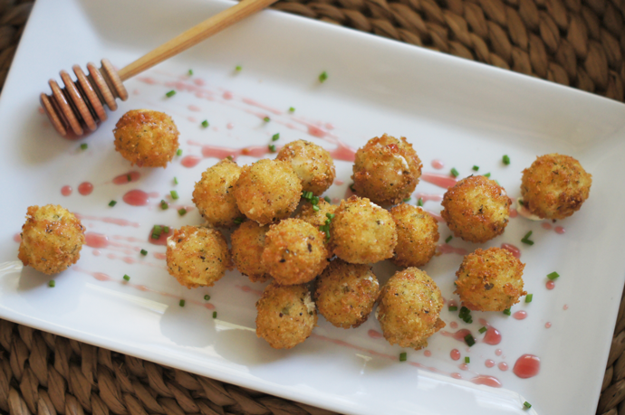 Herb goat cheese poppers: Photo by Kristin Massad