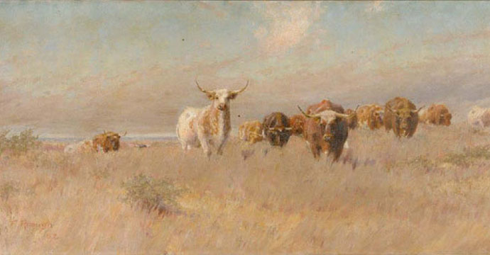 """The Approaching Herd,"" 1902: Image courtesy of the Panhandle-Plains Historical Museum"