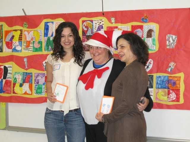 Rosemont principal Ana Brining dresses up as the Cat in the Hat for the school's annual Dr. Seuss celebration in 2011.