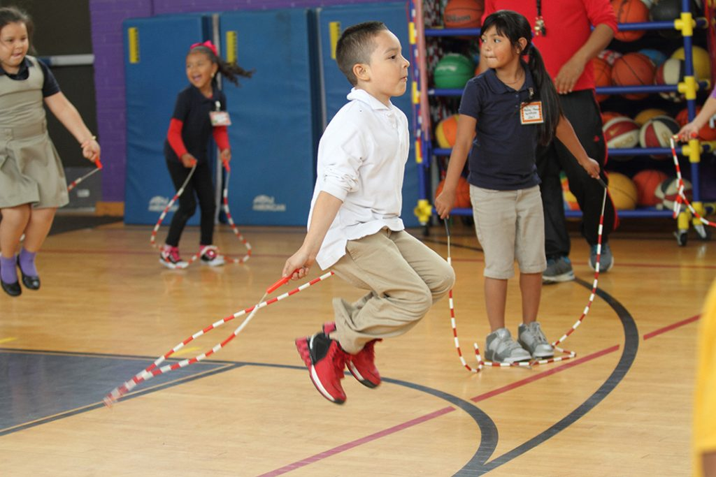 James Bowie Elementary students participate in Jump Rope for Heart: Photo courtesy of Dallas ISD