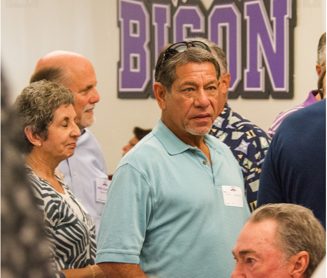 Former Texas Rangers hitting coach Rudy Jaramillo was among the alumni who attended the Sunset High School 90th anniversary celebration and all-class reunion recently. Photo by Mike Morgan