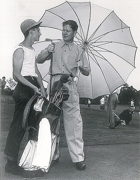 Nelson was a two-time Masters and PGA Championship winner, and he also invented the oversized golf umbrella. (Photos courtesy of the AT&T Byron Nelson)