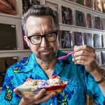David Grover with dripping ice cream