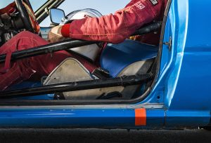 race car safety bars. Greg Kennedy (Photo by Danny Fulgencio)