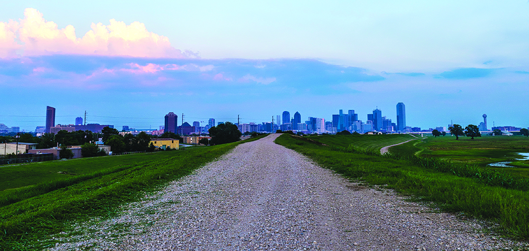 Skyline seen from Dallas trail in Oak Cliff (Photo by Danny Fulgencio)