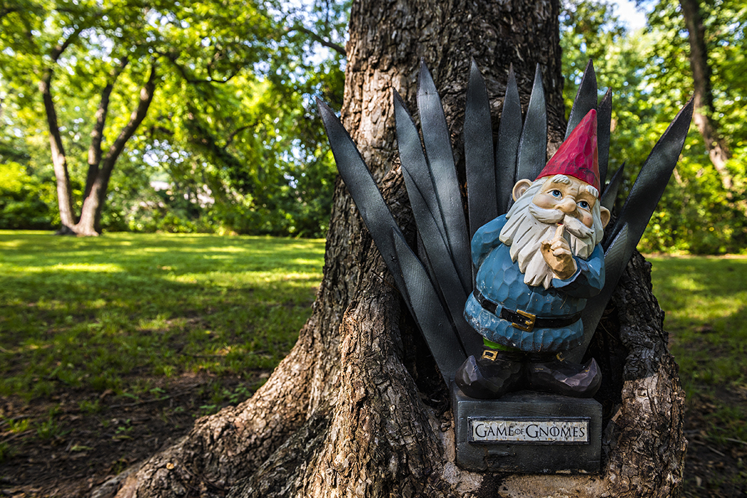 A gnome on the Coombs Creek Trail. Photo by Danny Fulgencio