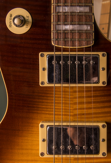 Detail of one of Escovedo's guitars.(Photo by Danny Fulgencio)