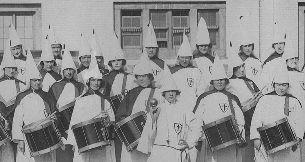 The drum corps of the Dallas Women's KKK poses in front of Union Station around 1930. The Dallas Klan No. 66 at one time was the largest KKK chapter in the nation. (Photos courtesy of the Library of Congress and the DeGolyer Library, Southern Methodist University)