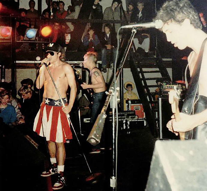 The Red Hot Chili Peppers perform at the bygone Theatre Gallery in Deep Ellum, 1985. (Photo by David Walbert)