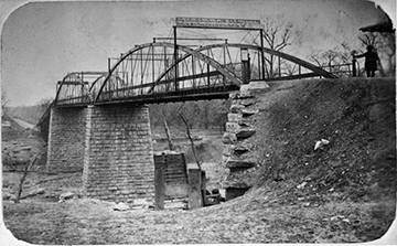 The Commerce Street toll bridge that Sarah Cockrell built in 1872.