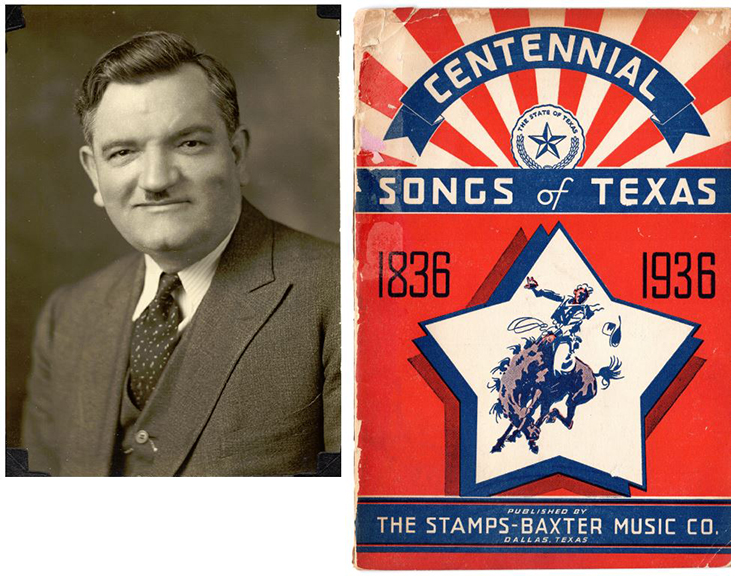 V.O. Stamps and a Stamps-Baxter songbook produced for the Texas Centennial celebration in 1936. (Photos courtesy of David Spence)