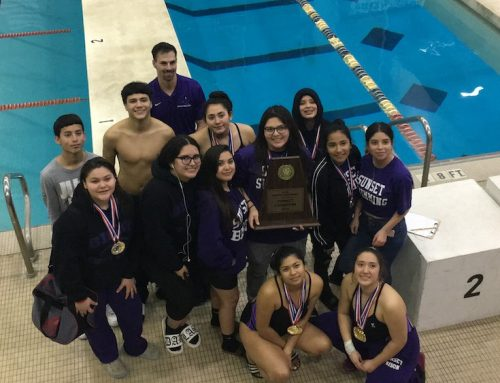 Sunset girls, Carter boys swim teams win district championships