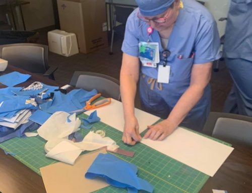 Methodist medical staff turns conference room into PPE sewing lab