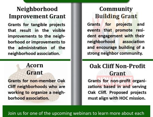 Learn how to apply for neighborhood grants via Heritage Oak Cliff webinar