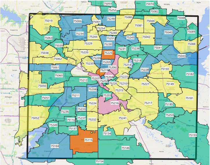map of dallas zip codes How Many Cases Of Covid 19 Are There In Oak Cliff Oak Cliff map of dallas zip codes