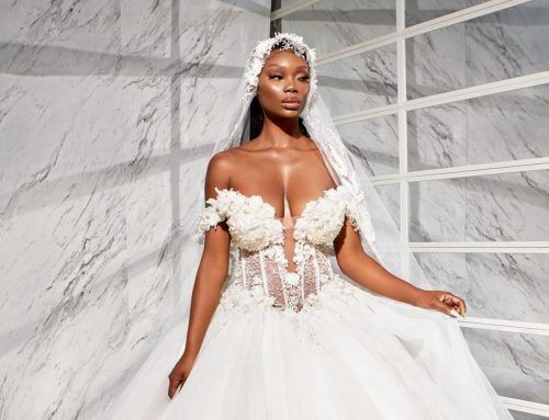 Chasity Samone poses down the aisle in this Black designer's new collection