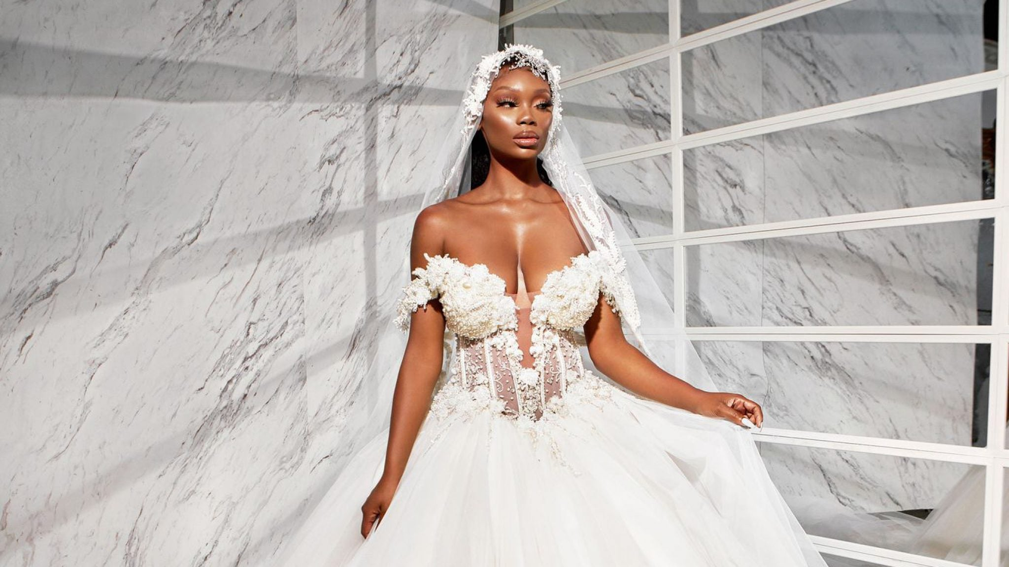 Chasity Samone is posing down the aisle in this Black fashion designer's new collection